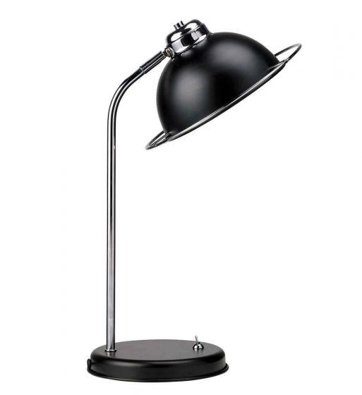 Retro Matt Black Table Lamp