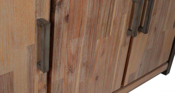 Salvatore Acacia Wood 3 Door Sideboard
