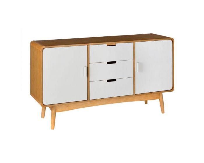 Scandinavian Inspired Oak Veneer Sideboard