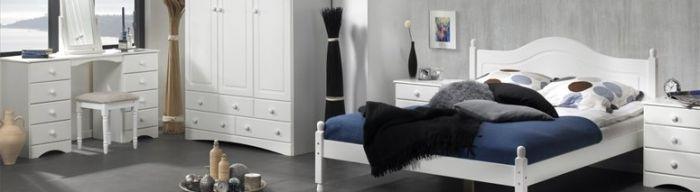 Scandi 2 Door Wardrobe with 2 drawers in White