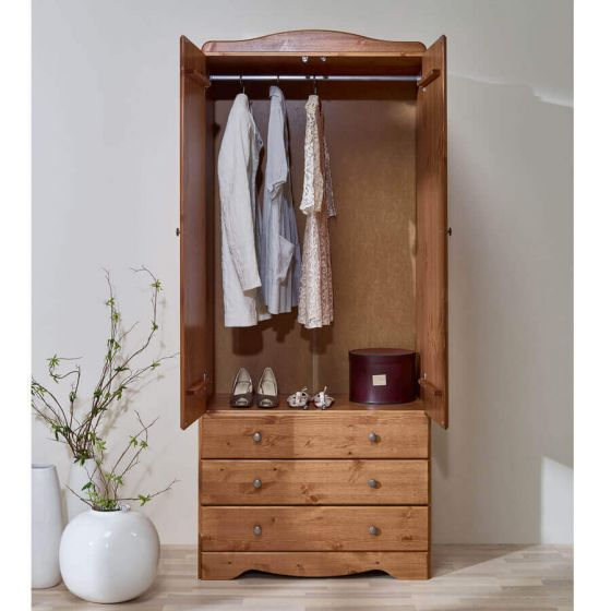 Scandinavian Pine 2+3 Wardrobe