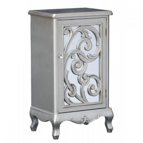 Silver Paisley Tall 1 Door Cupboard
