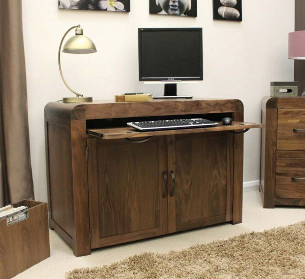 Solid Walnut Hidden Home Office