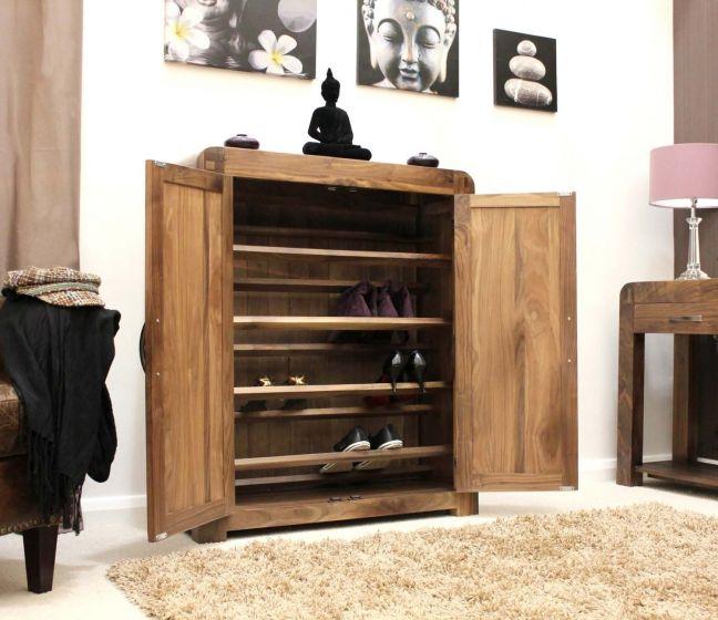 Solid Walnut Shoe Cupboard