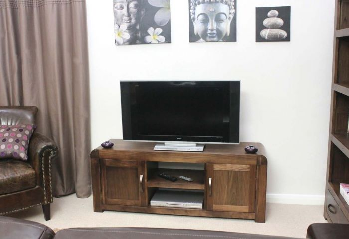Solid Walnut Widescreen Television Cabinet