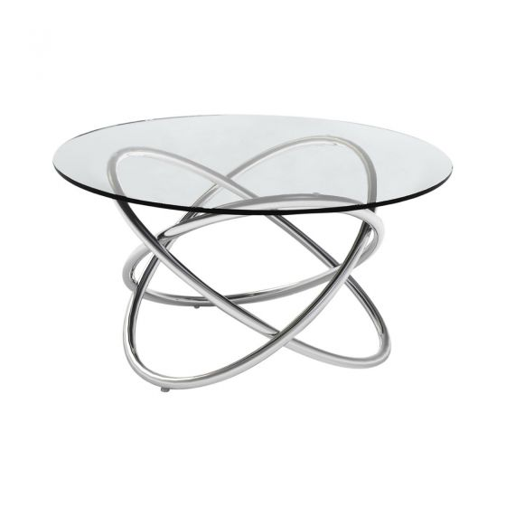 Sphere Style Round Side Table - Clear
