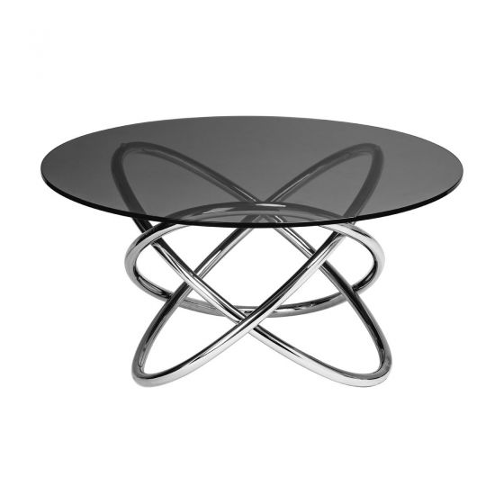 Sphere Style Round Side Table - Smoked