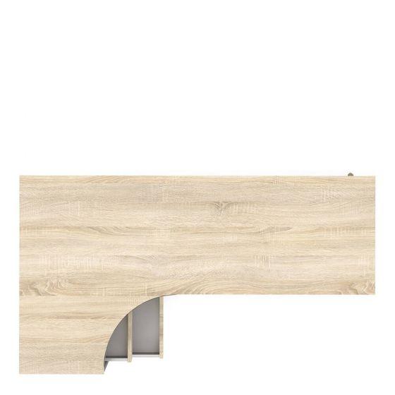 Stockholm 2 Drawer Desk in White with black or oak