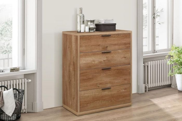 Stonehouse Rustic Effect 4 Drawer Chest of Drawers
