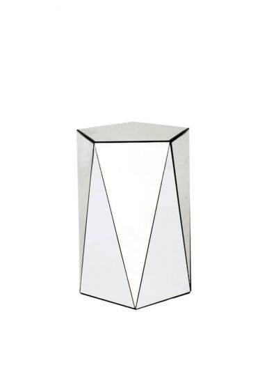 Cypher Round Mirrored Funky Side Table
