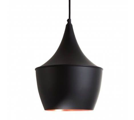 Tent Shaped Black and Copper Pendant