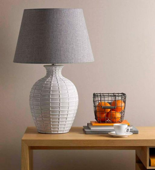 Textured Chalky Table Lamp