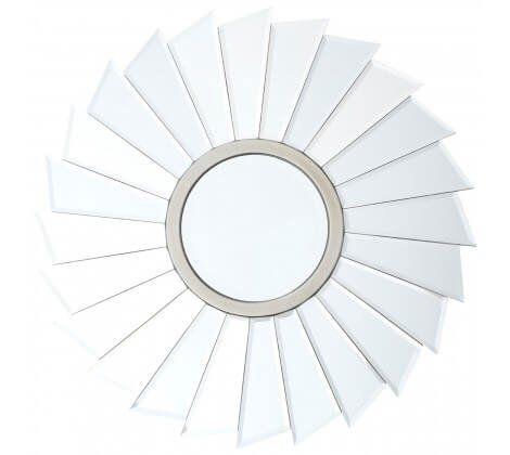 Tiffany Champagne Round Wall Mirror