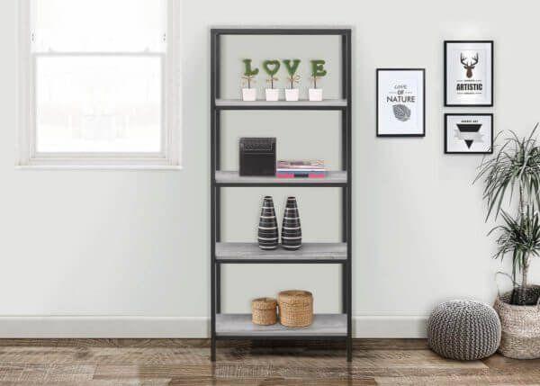 Townville Concrete Effect 5 Tier Bookcase