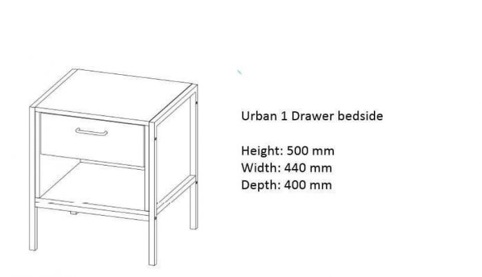 Urban 1 Drawer Bedside Chest