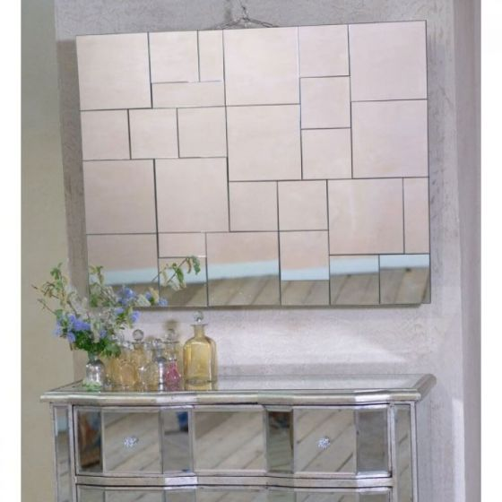 Venetian Geometric Multi Panel Wall Mirror