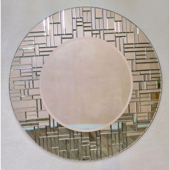 Venetian Segmented Round Decorative Wall Mirror