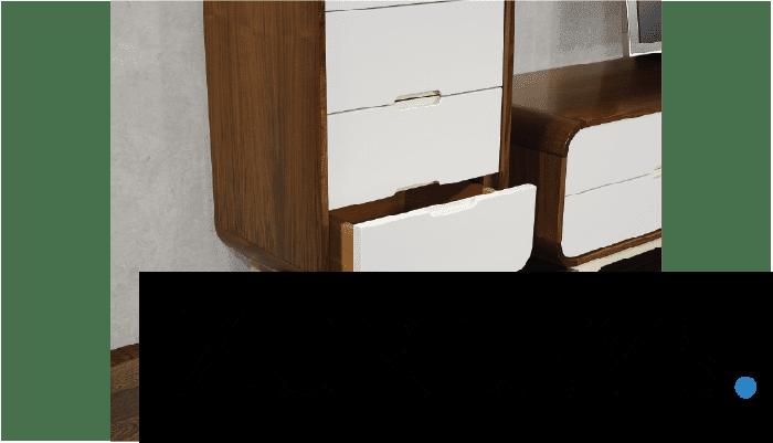 Walnut and White Cabinet Arcus