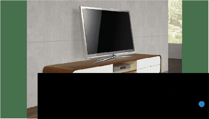 Walnut and White TV Unit Arcus