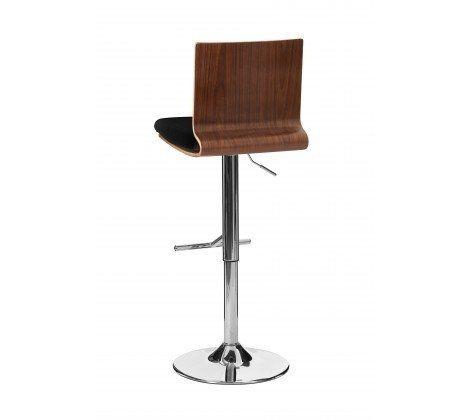 Walnut & Black Square Bar Chair