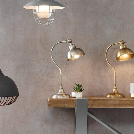 Warwick Silver Task Table Lamp