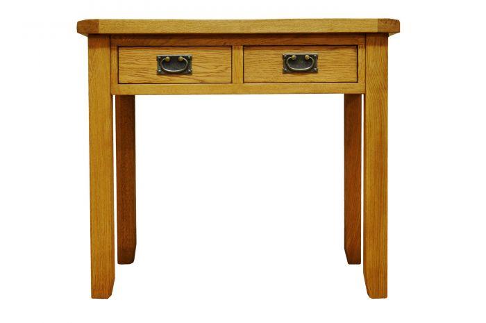 Waxed Oak Finish Desk