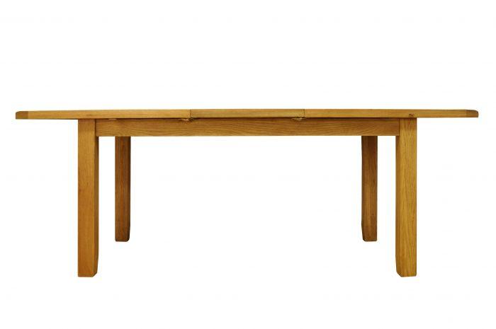 Waxed Oak Finish Medium Butterfly Extending Table