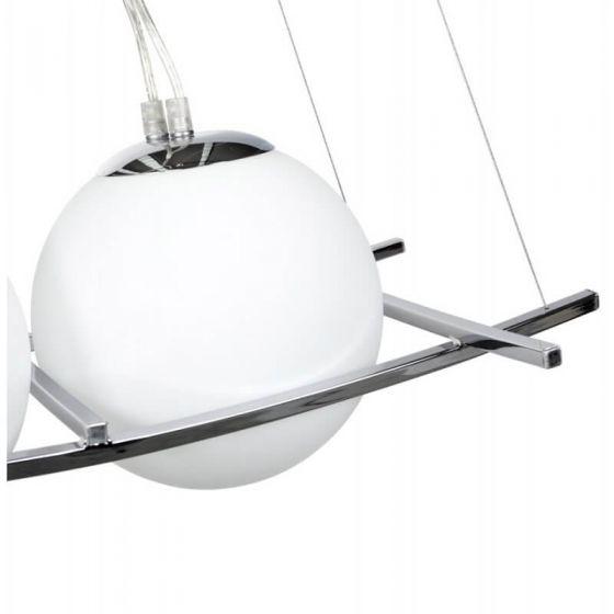 White 4 Ball Retro Ceiling Light