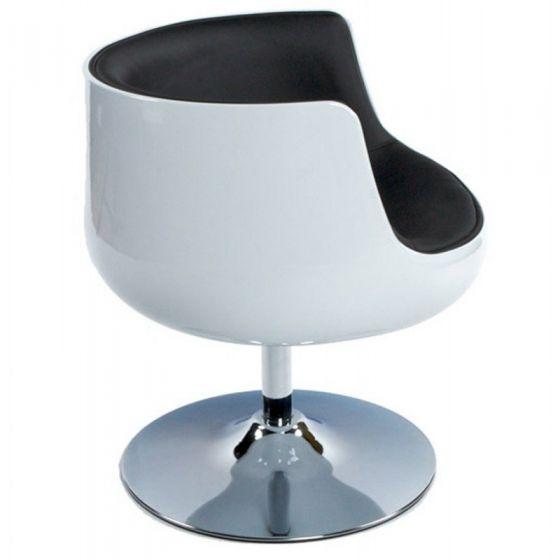 Vela Half Tub Chairs - Black and White