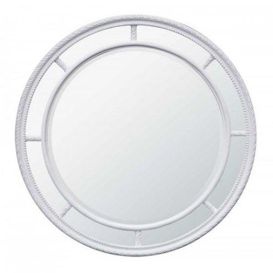 White Modern Maria Circular Mirror