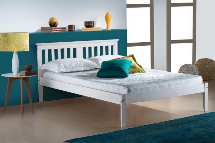 Bahia Waxed Pine or White Single & Double Bed Frames