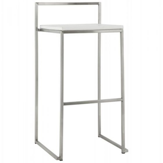 Resta Retro Bar Stool - White