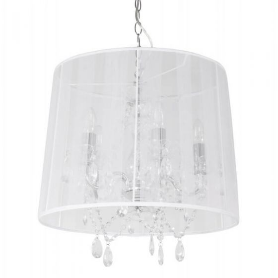 Catherine Traditional Jewel Ceiling Light White