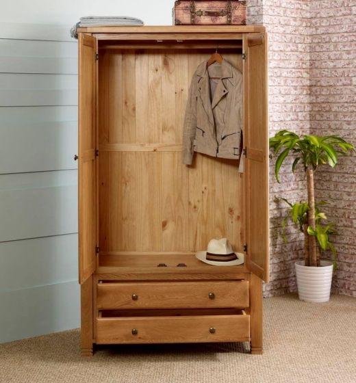 Oxfordshire Oak Double Wardrobe