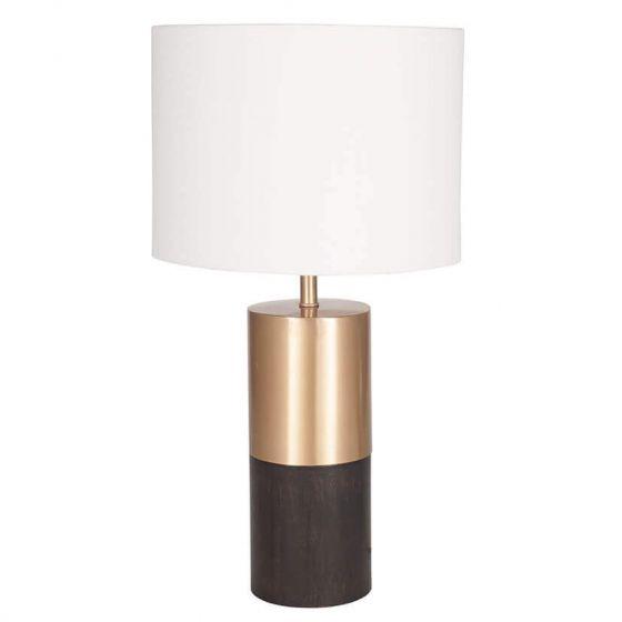 Pennington Wood and Gold Metal Table Lamp
