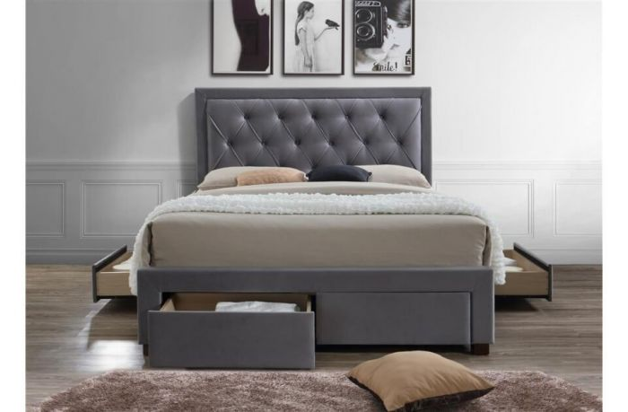 Woodhouse Diamond Tufted Grey Or Black Bed Frames