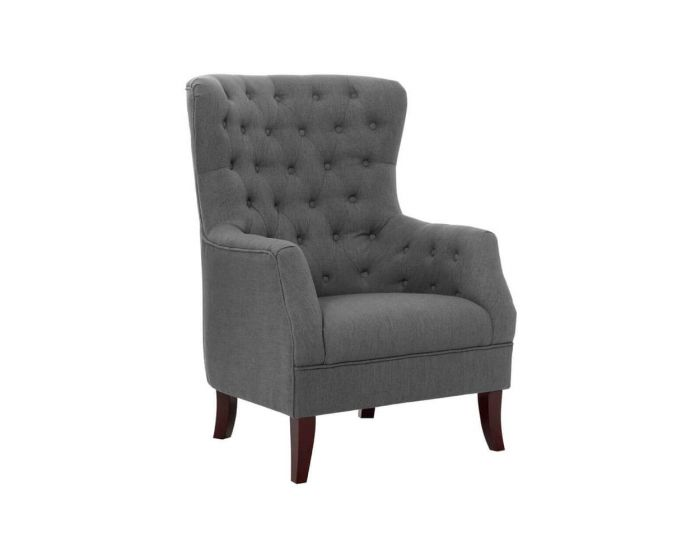 Grey Mayfair Linen Armchair