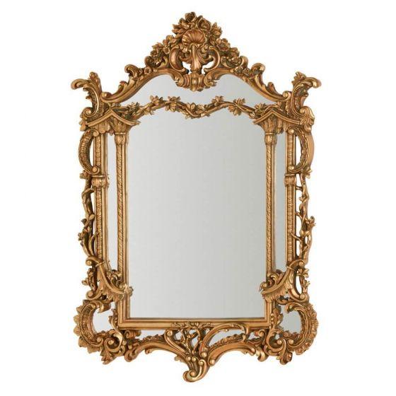 Puccini Wall Mirror Gold