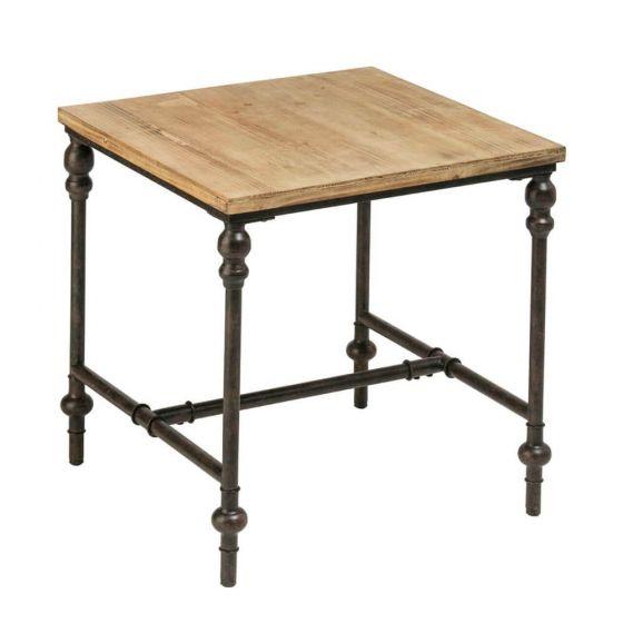 Industrial Fir Wood Side Table