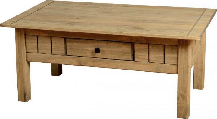 Panama Wax 1 Drawer Coffee Table