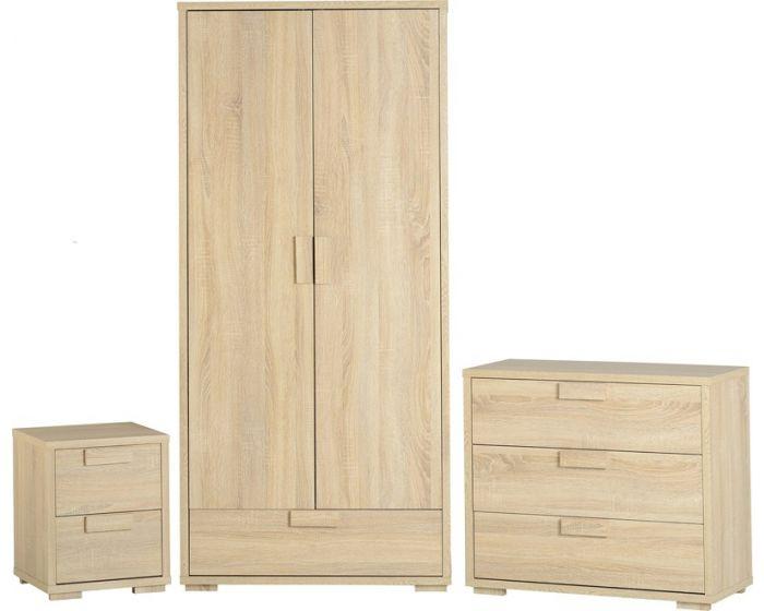 Cambourne Oak Effect Veneer Bedroom Set