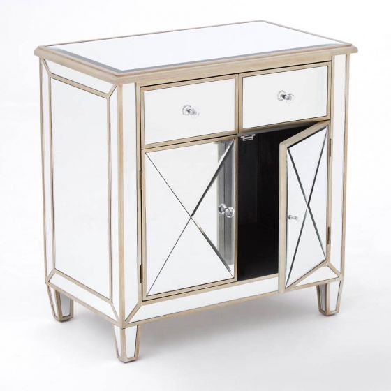 Mirrored French Champagne Sideboard
