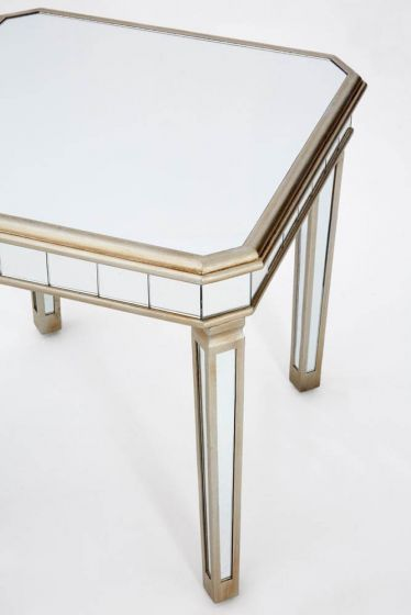 Mirrored French Champagne Side Table