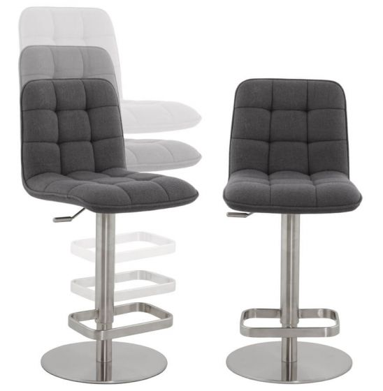 Cima Quilted Fabric Bar Chair