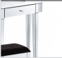 Clear Mirrored Curved Bevelled Console Table Set