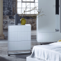 White Retro Cube Chest of Drawers