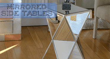 Glass Mirror Side Tables
